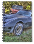 1977 Corvette Black Spiral Notebook