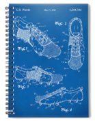 1980 Soccer Shoes Patent Artwork - Blueprint Spiral Notebook