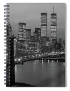 1980s New York City Lower Manhattan Spiral Notebook