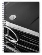 1984 Mercedes 500 Sl Convertible Bw Spiral Notebook