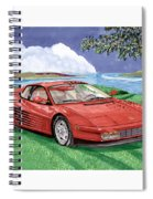 1987 Ferrari Testarosa  Spiral Notebook