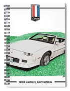 1989 Camaro Convertible Spiral Notebook