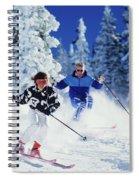 1990s Couple Skiing Vail Colorado Usa Spiral Notebook