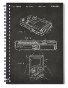 1993 Nintendo Game Boy Patent Artwork - Gray Spiral Notebook