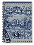 1994 Battle Of Saratoga Stamp Spiral Notebook