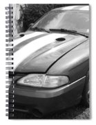 1996 Mustang Cobra In Black And White Spiral Notebook