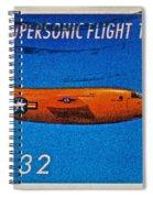 1997 First Supersonic Flight Stamp Spiral Notebook