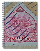 1997 Pacific Stagecoach Stamp Spiral Notebook