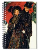 19th C. Young Couple In Winter Spiral Notebook