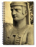 19th Century Granite Stone Sepia Sphinx Bust Poster Look Usa Spiral Notebook
