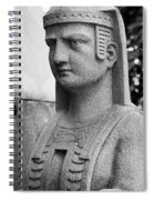 19th Century Granite Stone Sphinx Bust Black And White Poster Lo Spiral Notebook