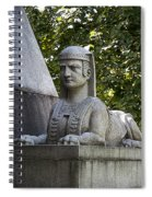 19th Century Granite Stone Sphinx Pyramid Color Poster Look Usa Spiral Notebook