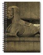 19th Century Granite Stone Sphinx Sepia Profile Poster Look Usa Spiral Notebook