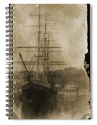19th Century Schooner Spiral Notebook