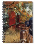 Alaskan Malamute Art Canvas Print Spiral Notebook