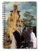 Azawakh Art Canvas Print Spiral Notebook