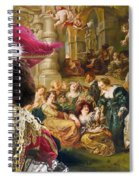 Irish Water Spaniel Art Canvas Print  Spiral Notebook