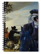 Keeshond Art Canvas Print Spiral Notebook