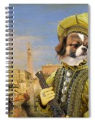 Tibetan Spaniel Art Canvas Print Spiral Notebook