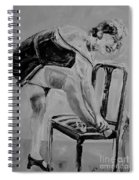 1920s Girl Black And White Spiral Notebook