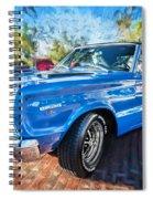 1967 Plymouth Belvedere Gtx 440 Painted  Spiral Notebook