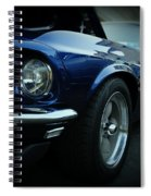 1969 Ford Mustang Mach 1 Fastback Spiral Notebook