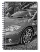 2006 Mitsubishi Eclipse Gt V6 Painted Bw Spiral Notebook
