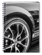 2007 Ford Mustang Shelby Gt Painted Bw   Spiral Notebook