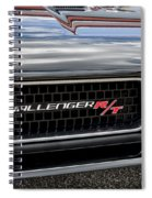 2011 Dodge Challenger Rt Black Spiral Notebook