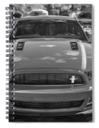 2013 Ford Mustang Gt Cs Painted Bw Spiral Notebook