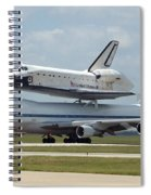 747 Carrying Space Shuttle Spiral Notebook