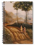 A Country Lane Spiral Notebook