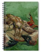 A Crab On Its Back Spiral Notebook
