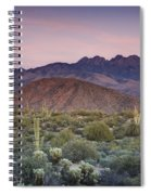 A Desert Sunset  Spiral Notebook