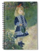 A Girl With A Watering Can Spiral Notebook