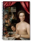 A Lady In Her Bath Spiral Notebook