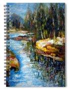 A Morning At River Bank Park Ny Spiral Notebook