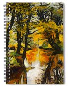 A River Landscape In Springtime Spiral Notebook