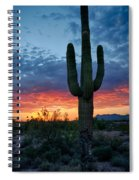 A Saguaro Sunset  Spiral Notebook