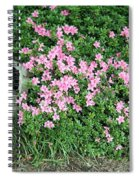 A Seat By The Flowers Spiral Notebook