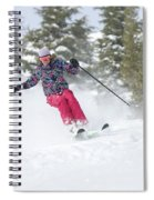 A Skier Descends A Snowy Slope Spiral Notebook