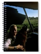 A Woman Sits In Her Safari Jeep Spiral Notebook