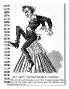 Abraham Lincoln Cartoon Spiral Notebook
