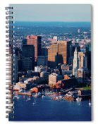 Aerial Morning View Of Boston Skyline Spiral Notebook