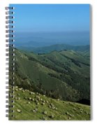 Aerial View Of Mountain Range Spiral Notebook