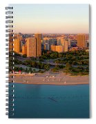 Aerial View Of North Avenue Beach Spiral Notebook
