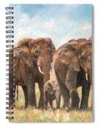 African Elephants Spiral Notebook