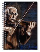 Albert Einstein And Violin Spiral Notebook