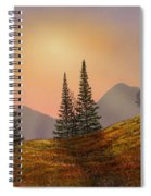 Alpine Sunset Spiral Notebook