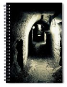 Altered Image Of A Tunnel In The Catacombs Of Paris France Spiral Notebook